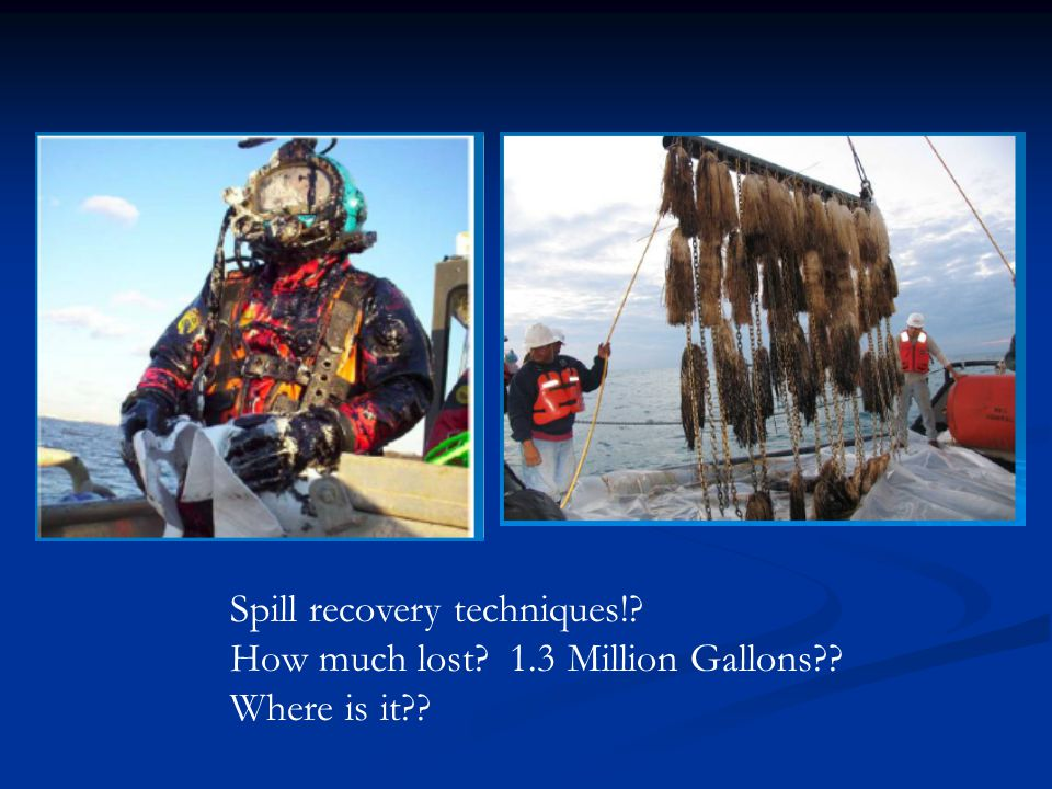 Spill recovery techniques!