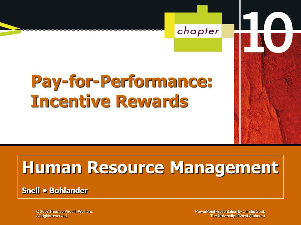 Pay-for-Performance: Incentive Rewards