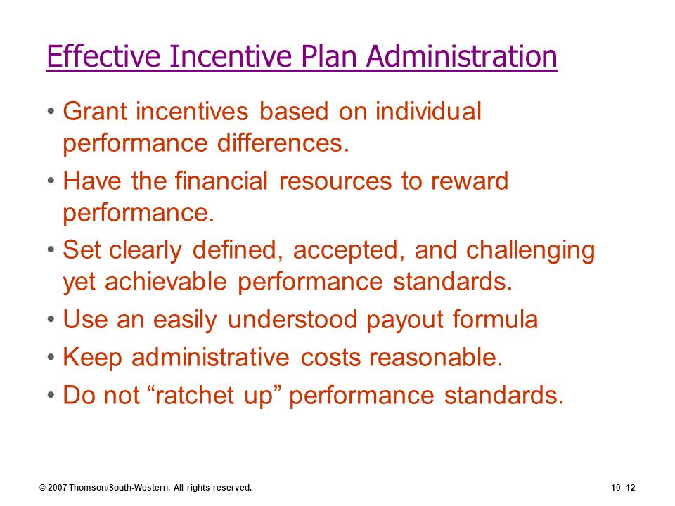 Effective Incentive Plan Administration