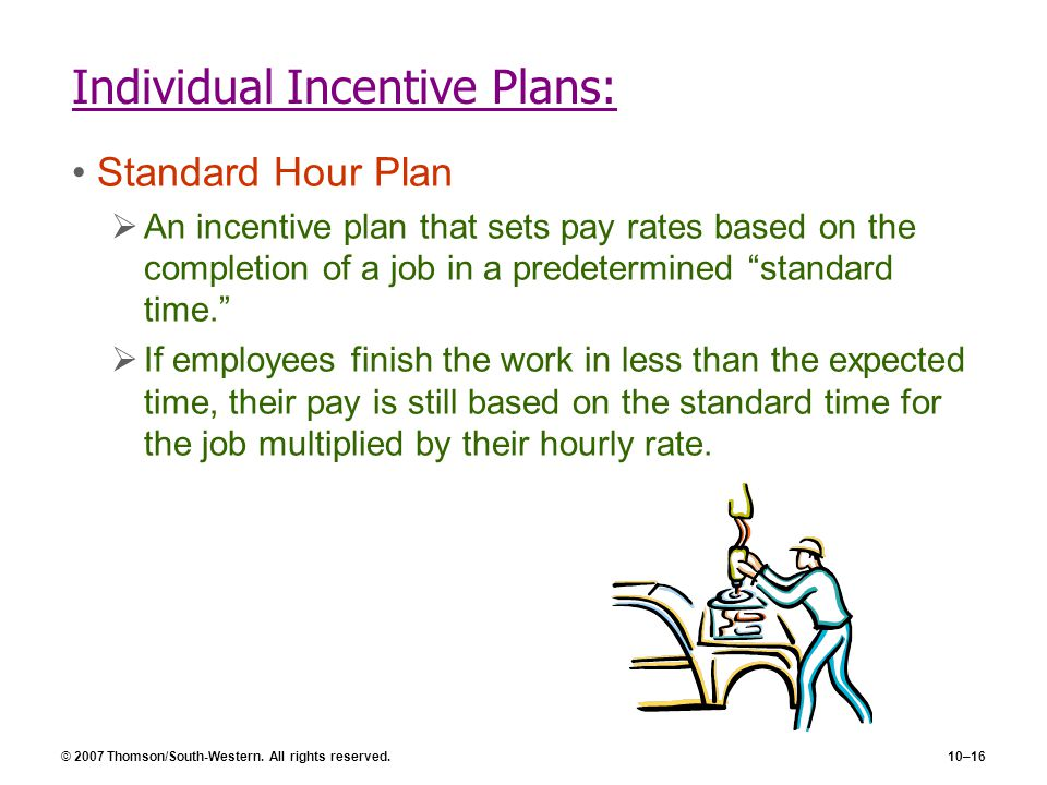 Individual Incentive Plans: