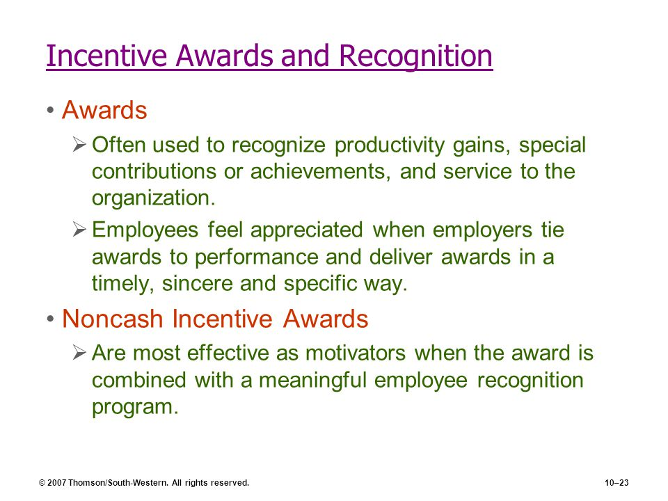 Incentive Awards and Recognition