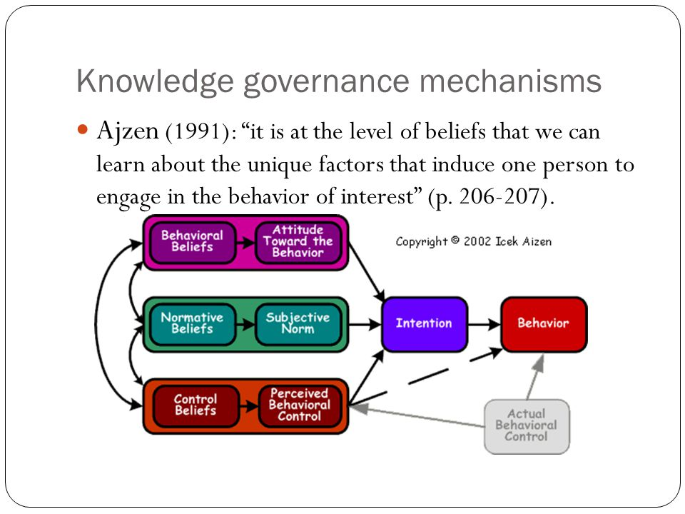 Knowledge governance mechanisms