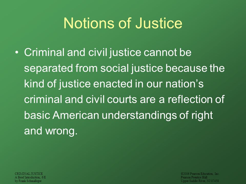 Notions of Justice
