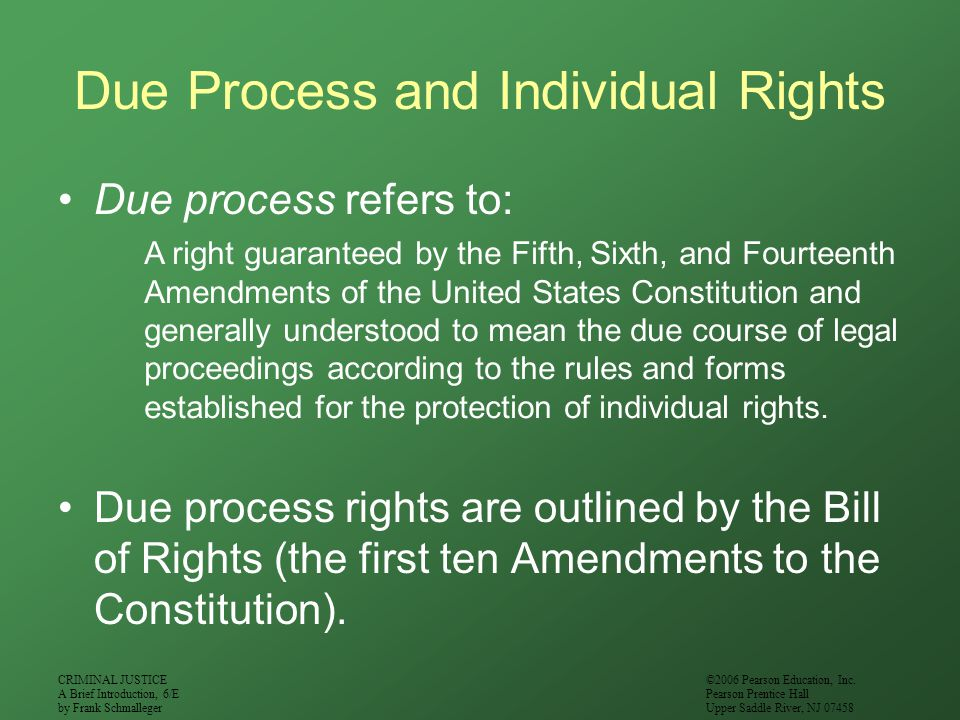 Due Process and Individual Rights
