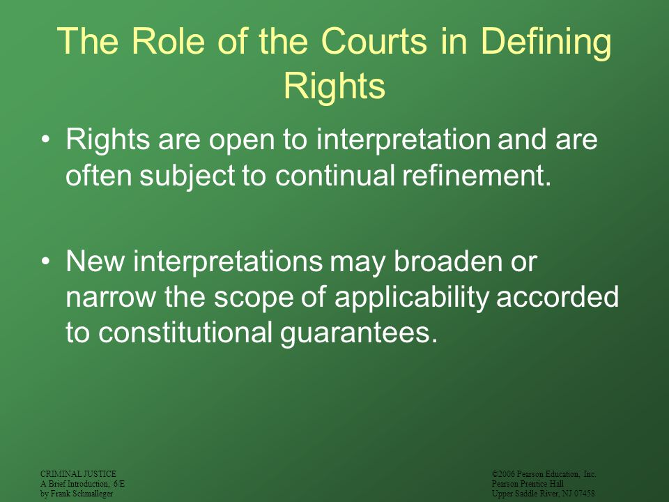 The Role of the Courts in Defining Rights