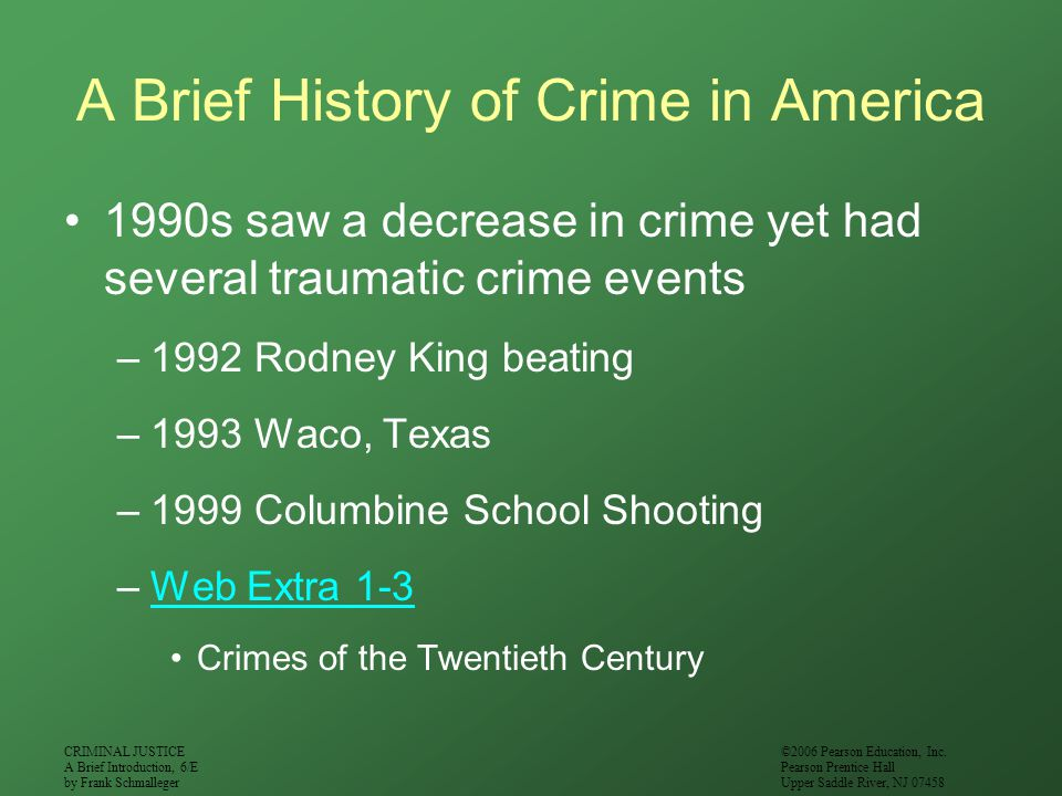 A Brief History of Crime in America