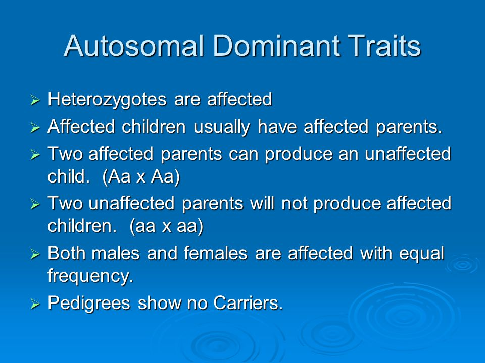 Human Genetics Ch 14: Autosomal Dominant, Autosomal ...
