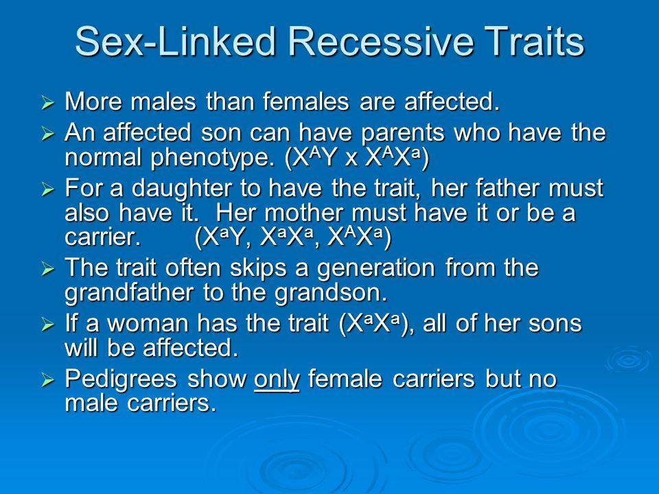 Sex-Linked Recessive Traits