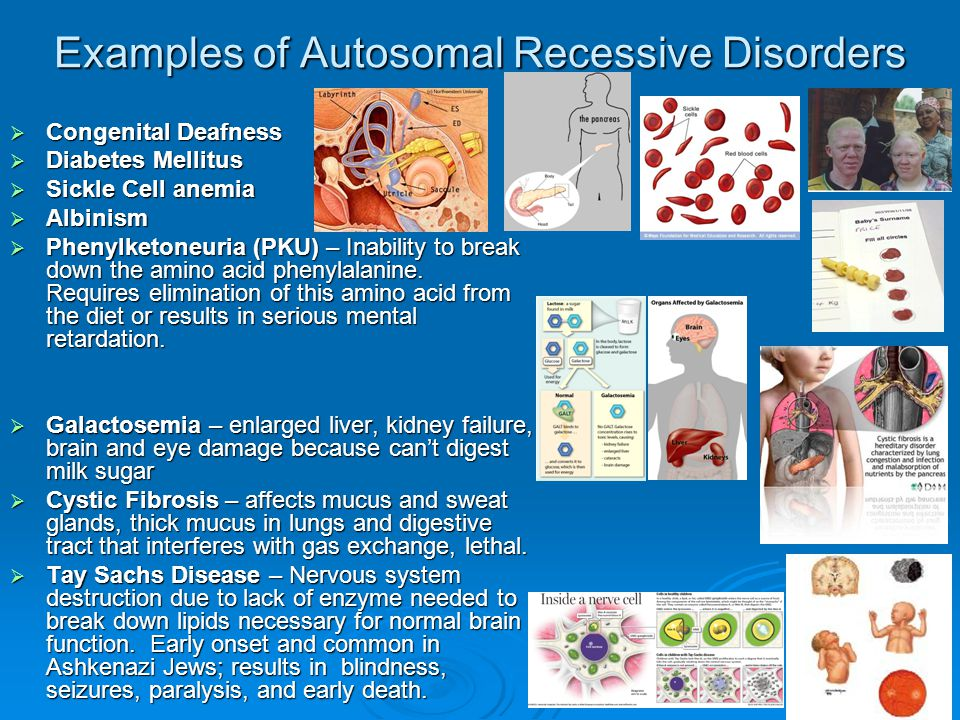 Examples of Autosomal Recessive Disorders