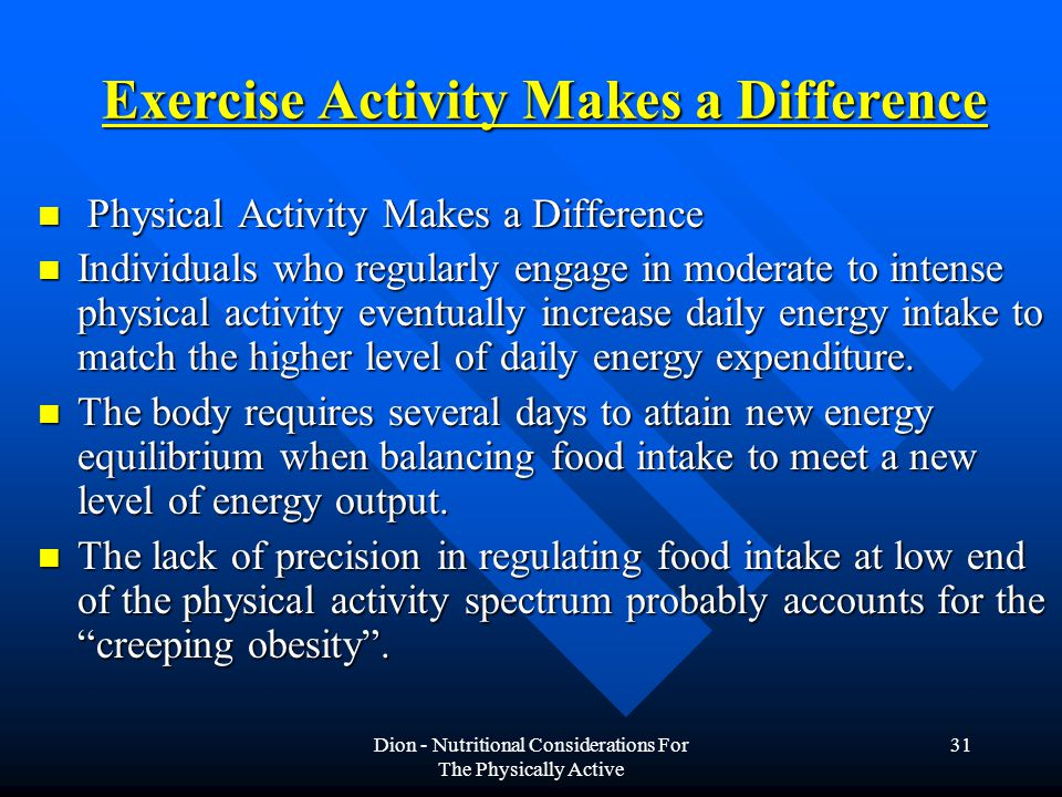 Exercise Activity Makes a Difference