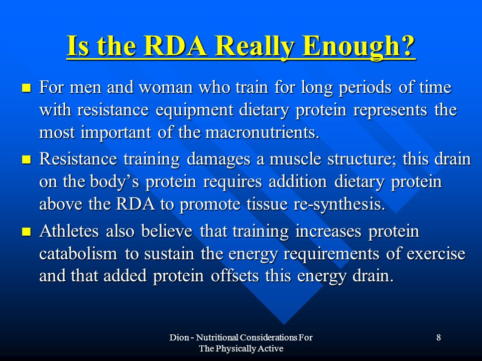 Is the RDA Really Enough