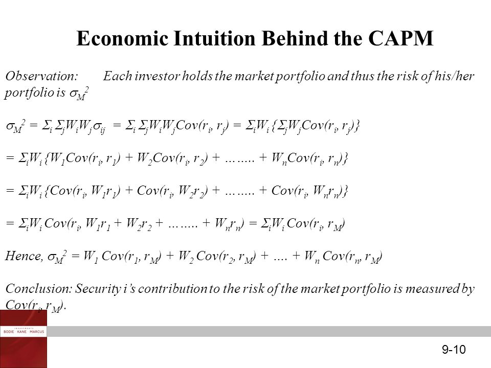 Economic Intuition Behind the CAPM