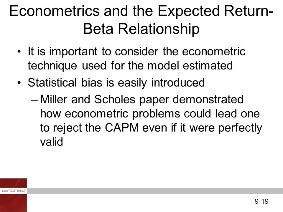 Econometrics and the Expected Return-Beta Relationship