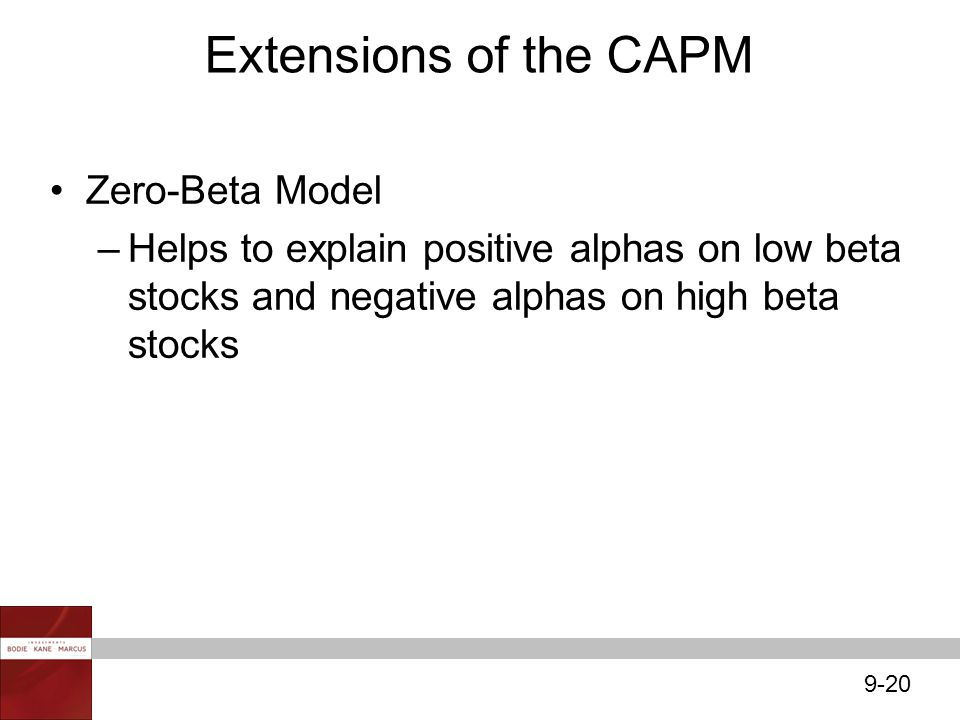 Extensions of the CAPM Zero-Beta Model