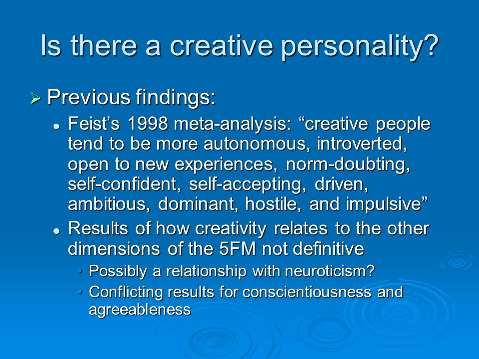 Is there a creative personality