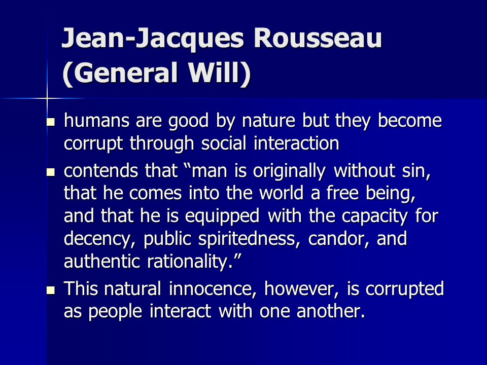 Jean-Jacques Rousseau (General Will)