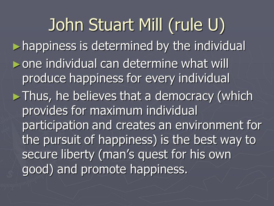John Stuart Mill (rule U)