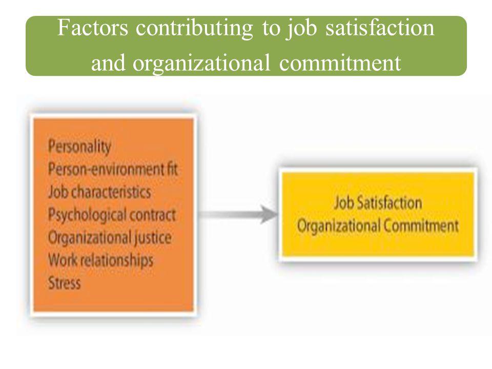 Factors contributing to job satisfaction