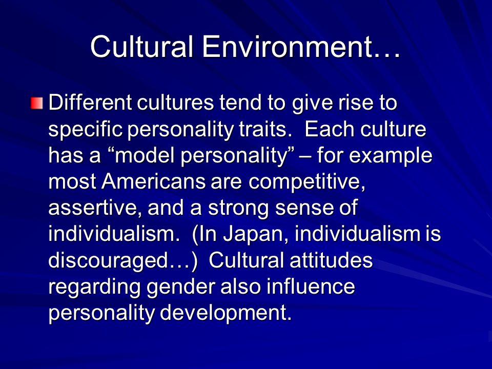 Cultural Environment…