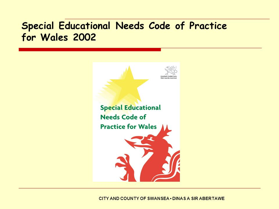 Special Educational Needs Code of Practice for Wales 2002