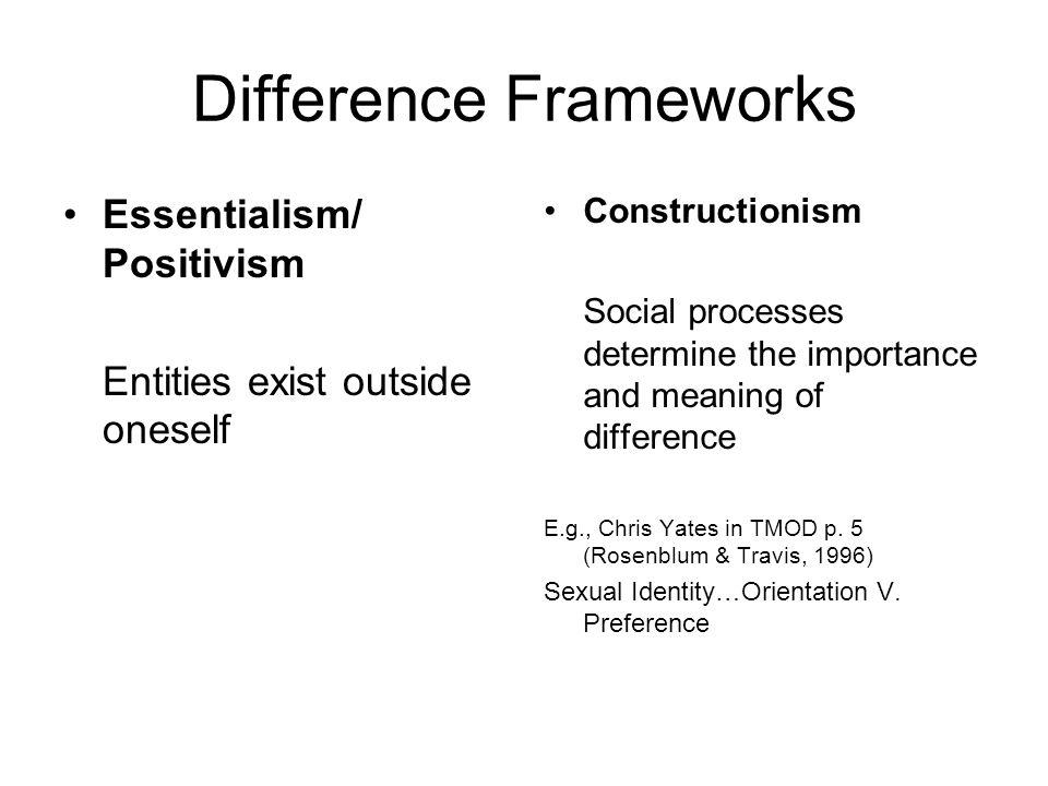Difference Frameworks