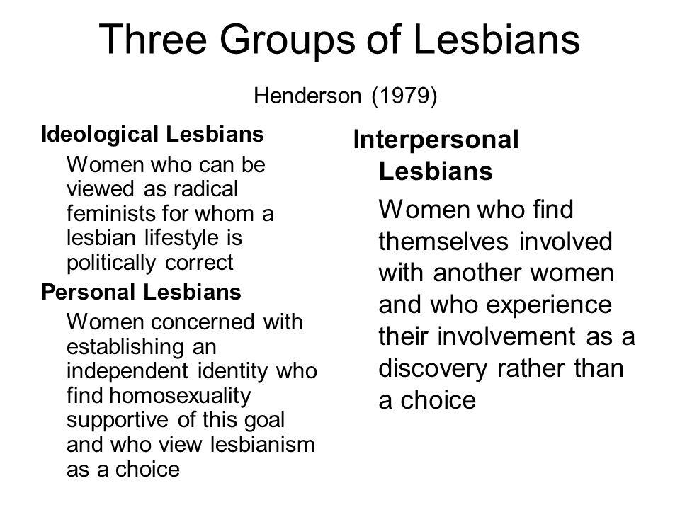 Three Groups of Lesbians Henderson (1979)