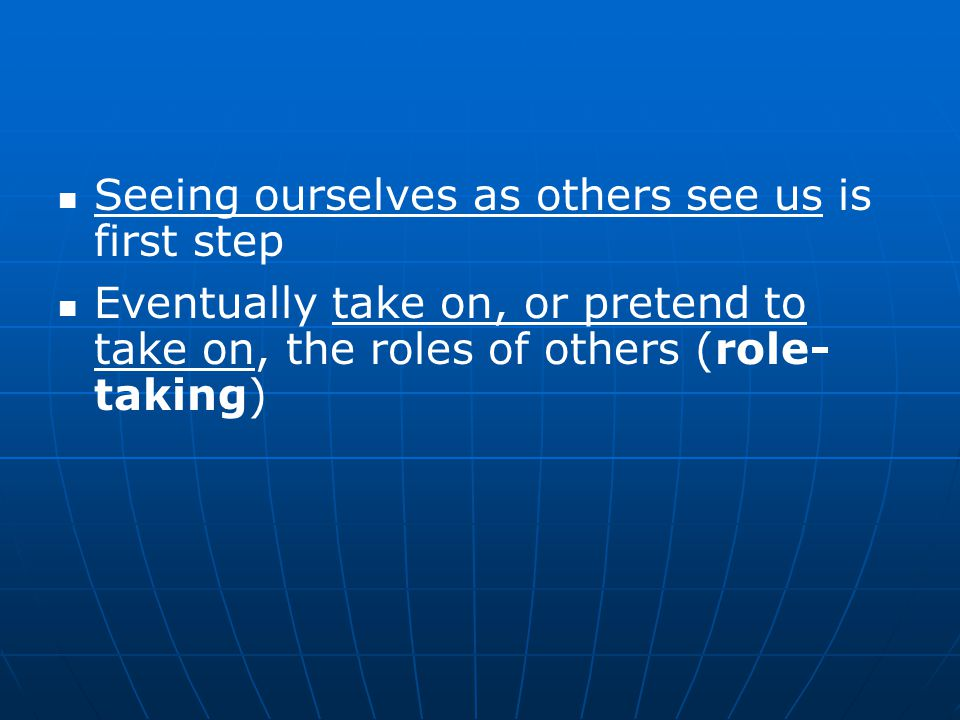 Seeing ourselves as others see us is first step