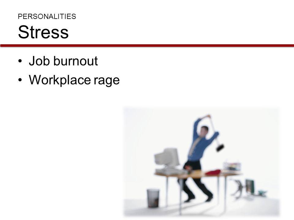 Job burnout Workplace rage PERSONALITIES Stress