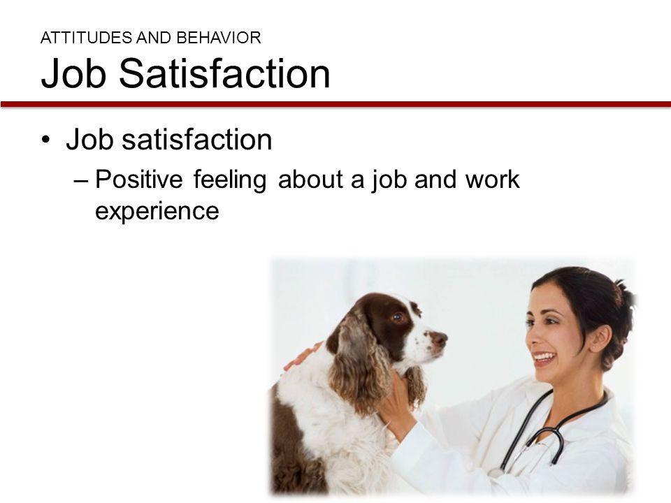ATTITUDES AND BEHAVIOR Job Satisfaction