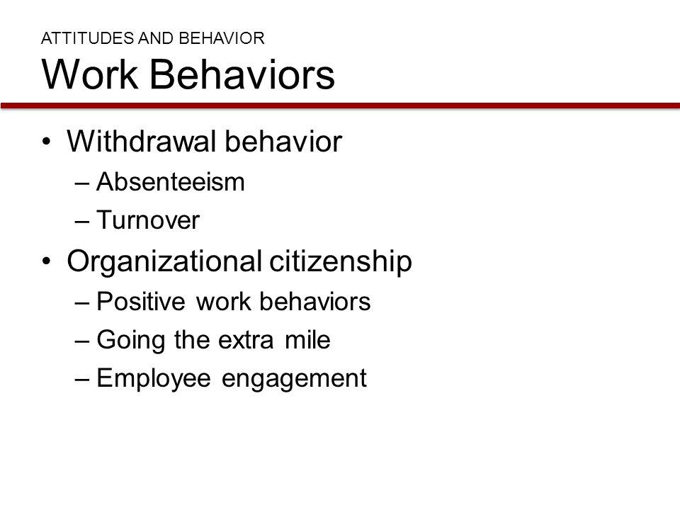 ATTITUDES AND BEHAVIOR Work Behaviors