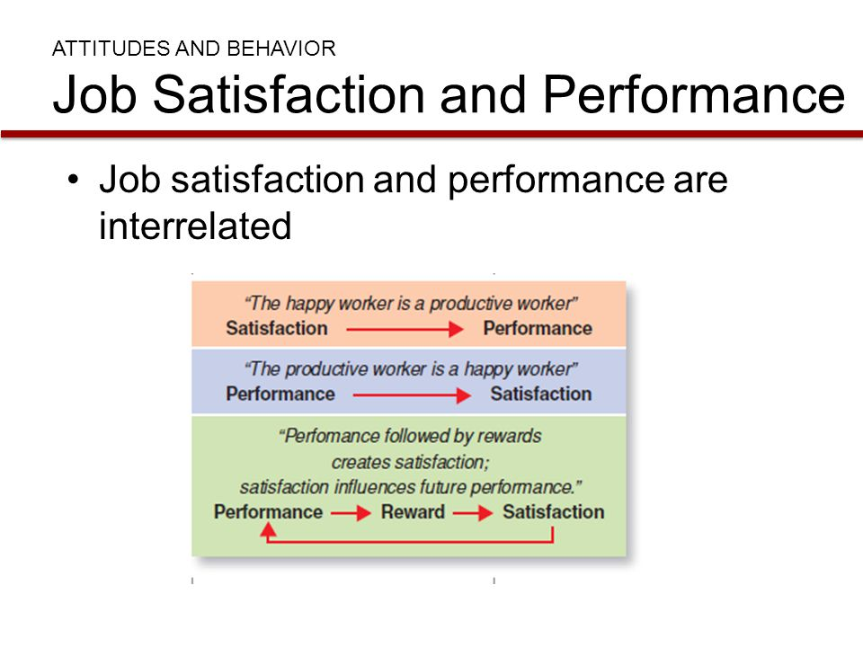 ATTITUDES AND BEHAVIOR Job Satisfaction and Performance