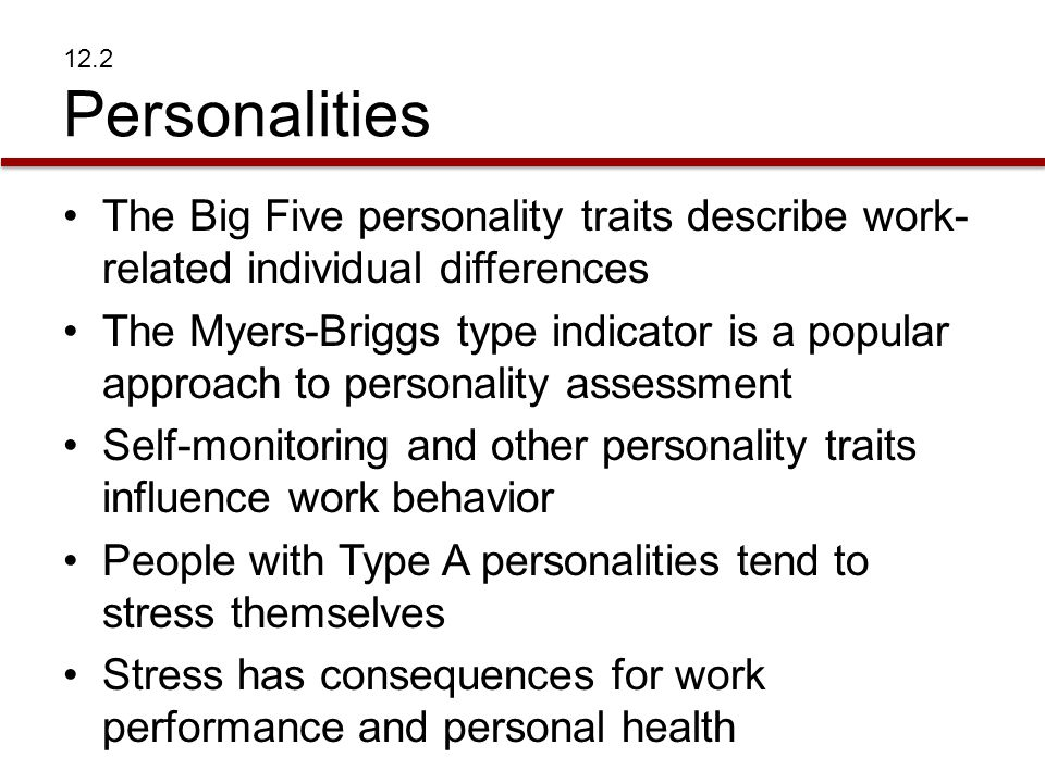 Self-monitoring and other personality traits influence work behavior