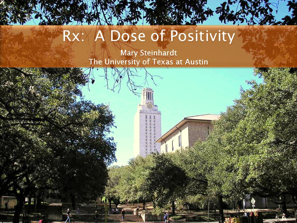 Rx: A Dose of Positivity