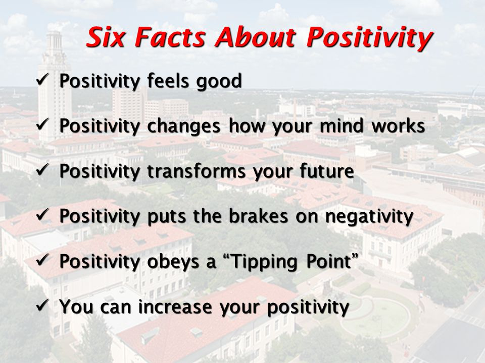Six Facts About Positivity