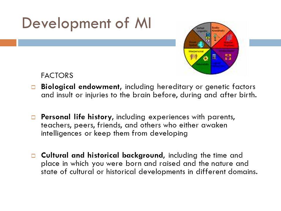 Development of MI FACTORS
