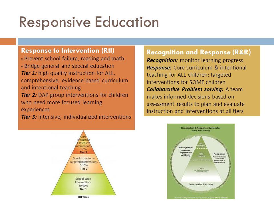 Responsive Education Response to Intervention (RtI)