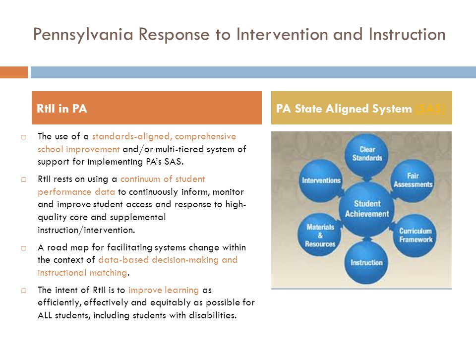 Pennsylvania Response to Intervention and Instruction