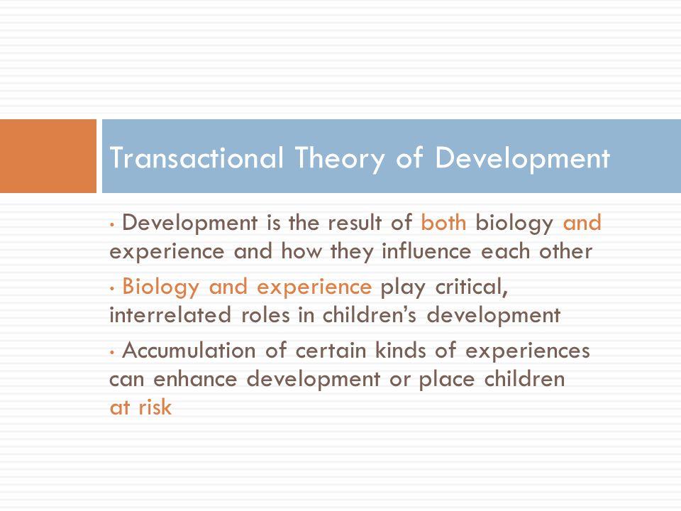 Transactional Theory of Development