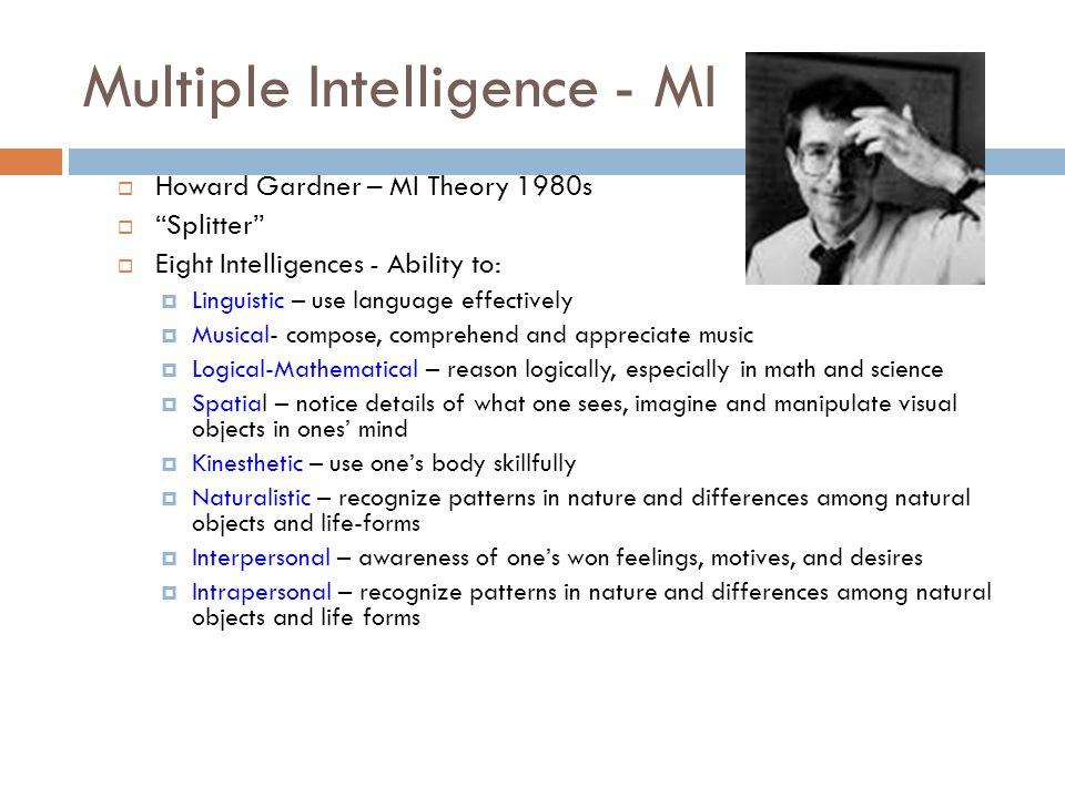 Multiple Intelligence - MI