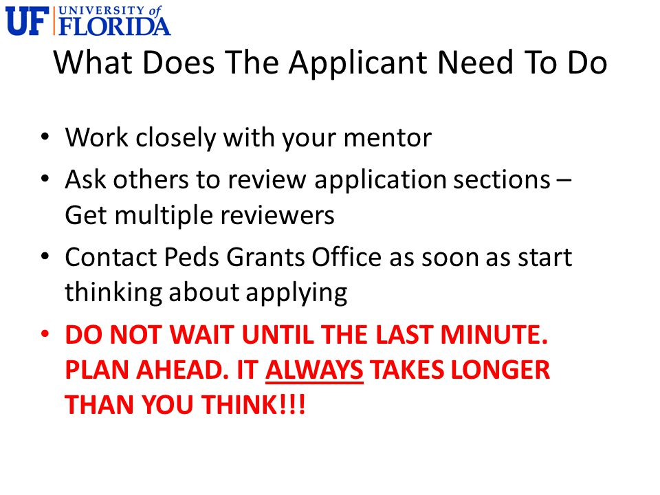 What Does The Applicant Need To Do