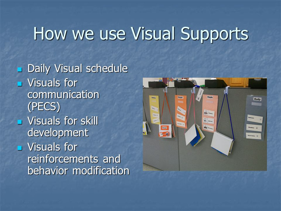 How we use Visual Supports
