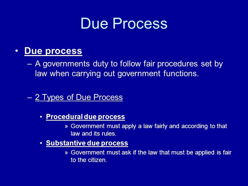 Due Process Due process