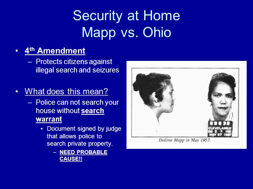 Security at Home Mapp vs. Ohio
