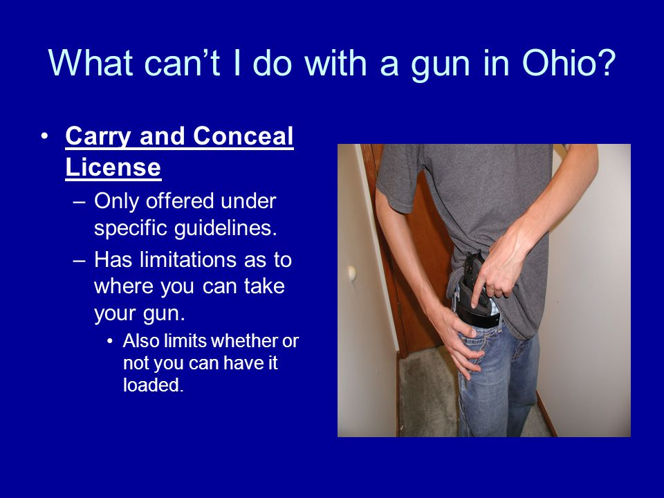 What can't I do with a gun in Ohio