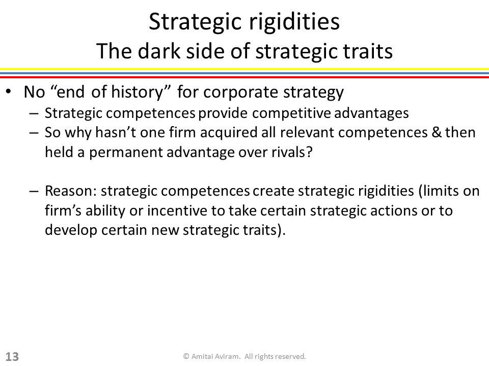 Strategic rigidities The dark side of strategic traits