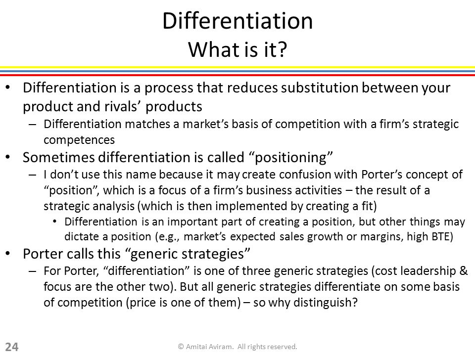 Differentiation What is it