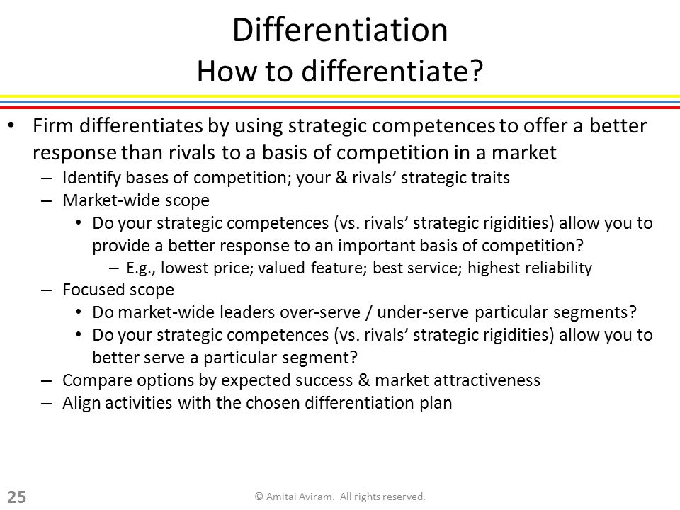 Differentiation How to differentiate