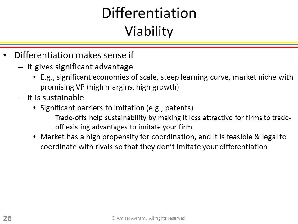 Differentiation Viability