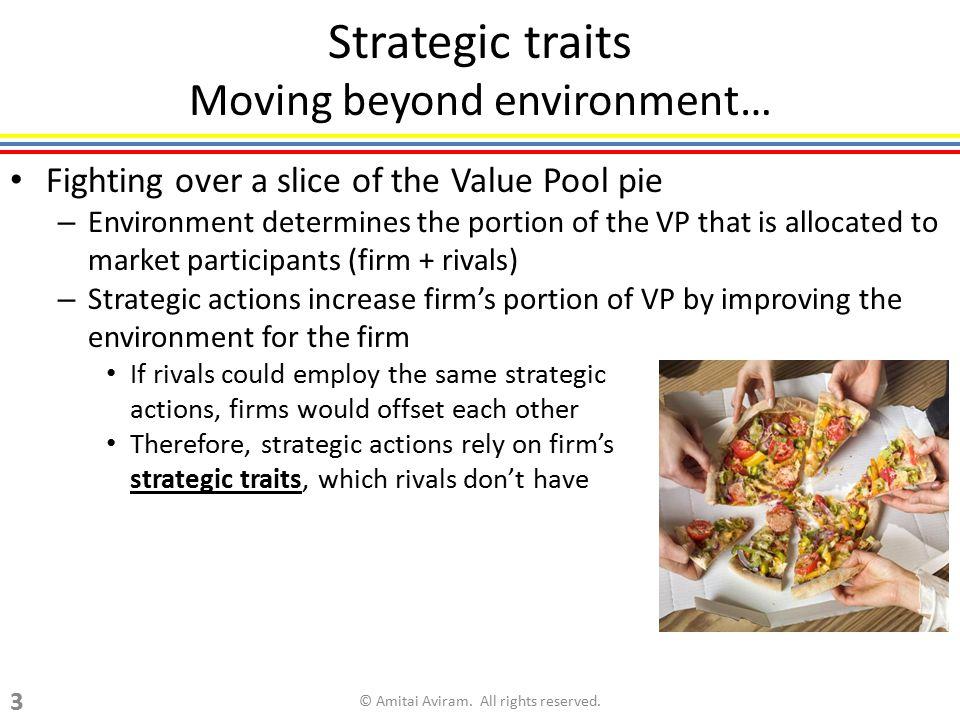 Strategic traits Moving beyond environment…