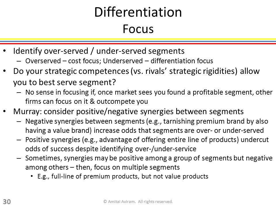 Differentiation Focus